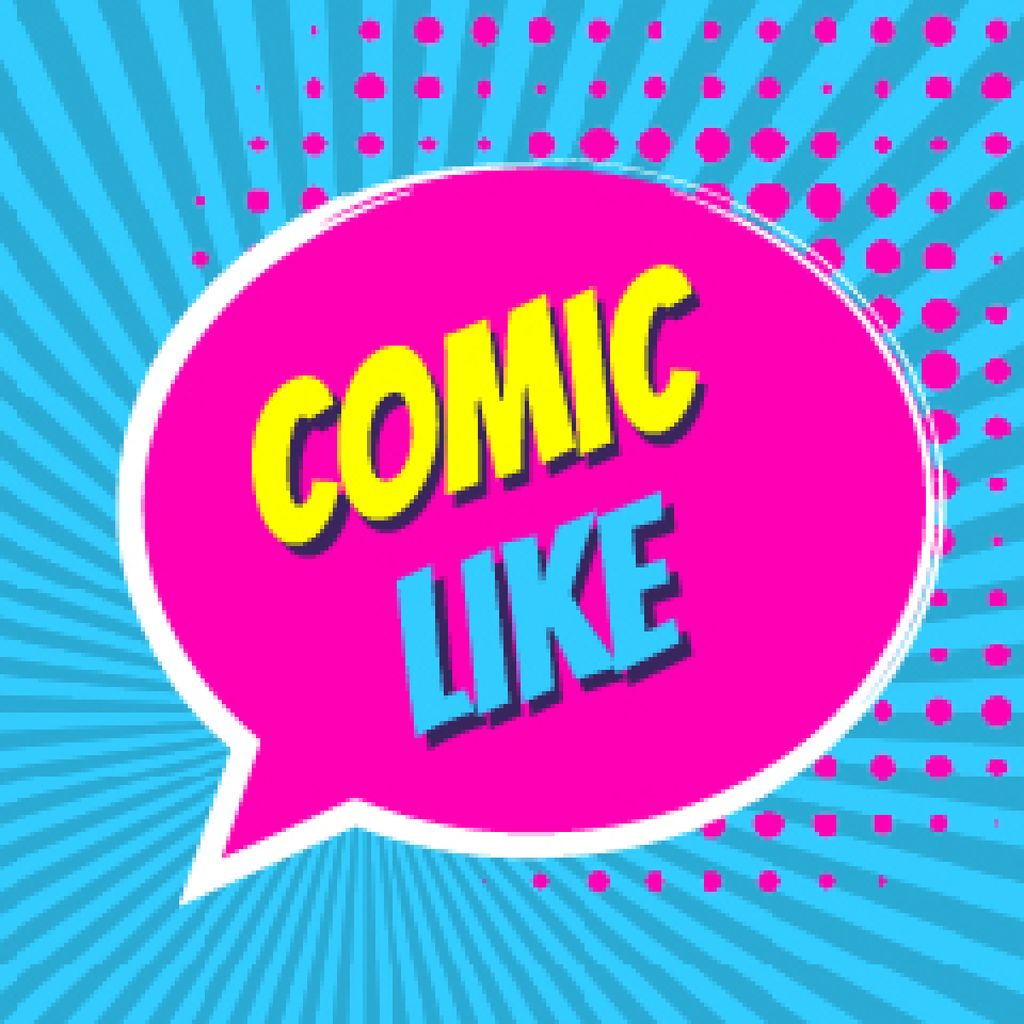 Comic Like Speech Bubble — Crea un design