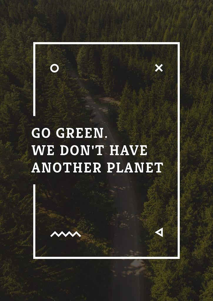 Citation about green planet — Create a Design