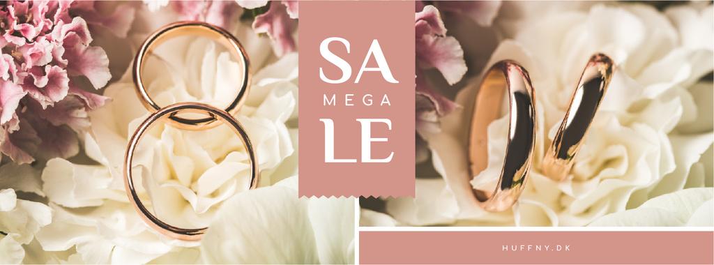 Wedding Offer Rings on Flower — Modelo de projeto