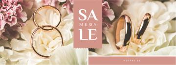 Wedding Offer Rings on Flower