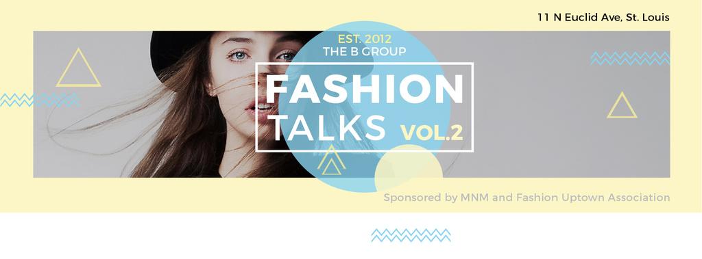Fashion talks poster — Modelo de projeto
