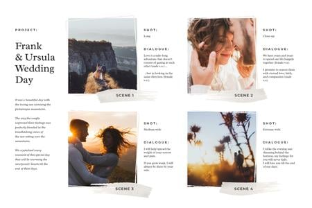Romantic Newlyweds on Majestic Hill Storyboard Modelo de Design