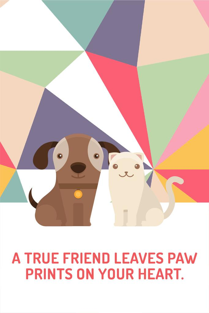 Pets Quote Cute Dog and Cat | Pinterest Template — Створити дизайн