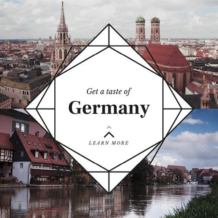 Plantilla de diseño de Special Tour Offer to Germany Animated Post