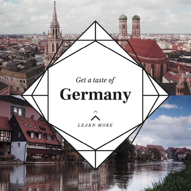 Template di design Special Tour Offer to Germany Animated Post