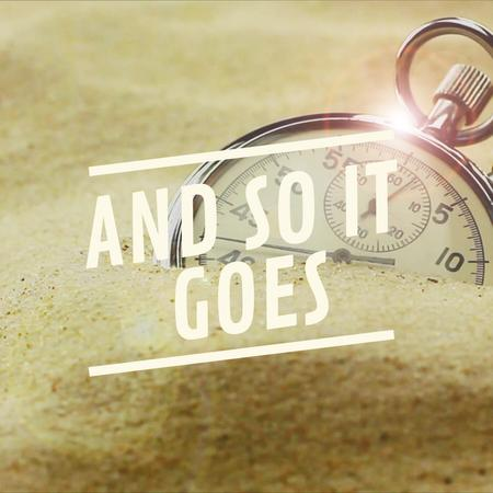 Plantilla de diseño de Stopwatch covered with sand Animated Post