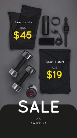 Sports equipment Sale Instagram Story – шаблон для дизайну