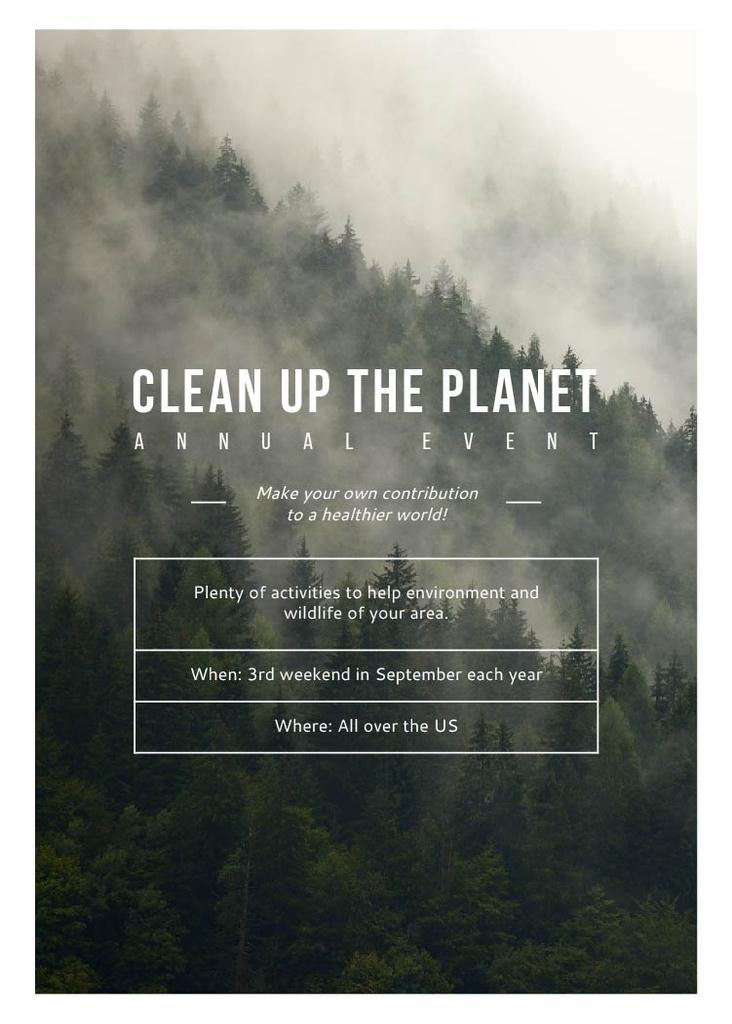 Ecological Event Foggy Forest View — Crear un diseño
