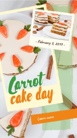 Carrot cake day with Carrots Instagram Story Modelo de Design