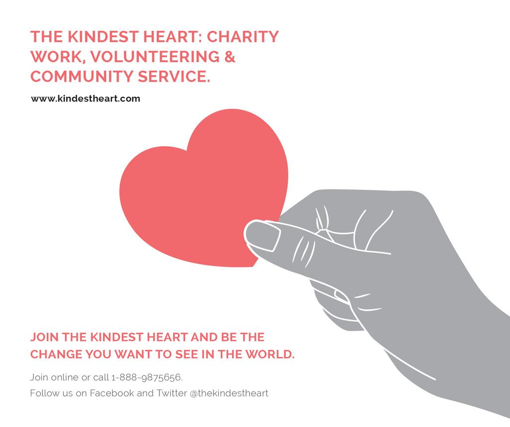 Charity event Hand holding Heart in Red — Maak een ontwerp