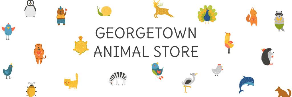 Animal Festival Announcement Animals Icons Twitter Modelo de Design