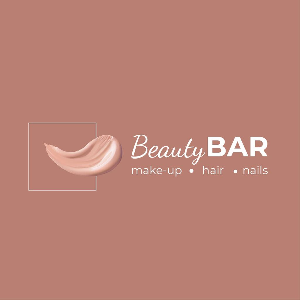 Beauty Bar Ad with Cream Smear in Pink — Создать дизайн