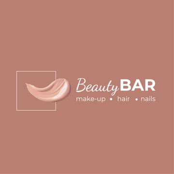 Beauty Bar Ad Cream Smear in Pink | Logo Template