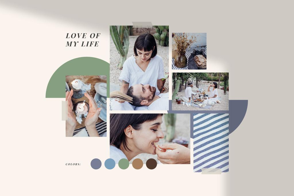 Summer inspiration with Couple on Picnic — Modelo de projeto