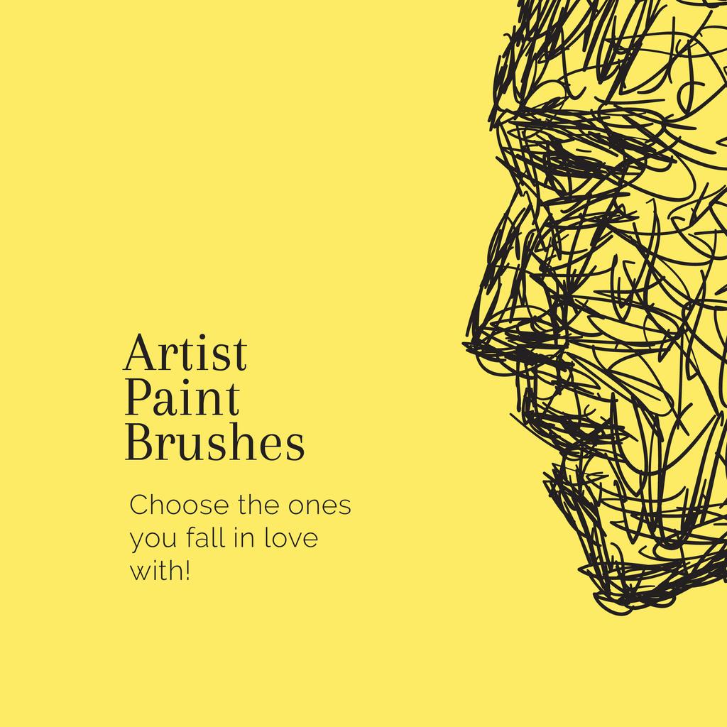 Art Supplies Store promotion with creative Portrait — Créer un visuel