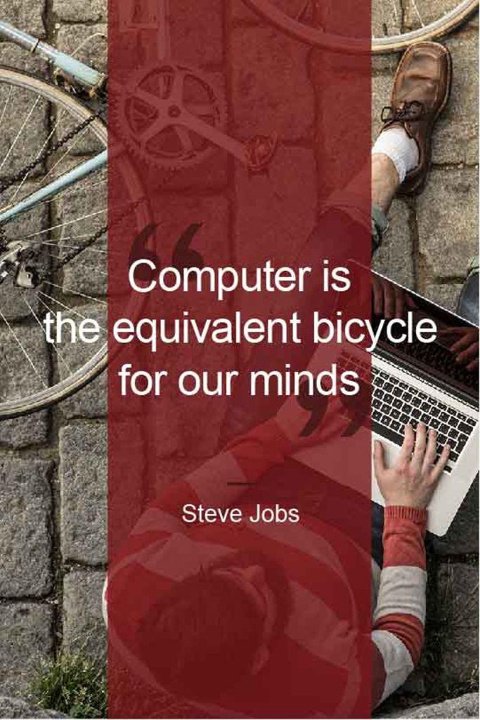Motivational quote with Young Man using laptop — Maak een ontwerp