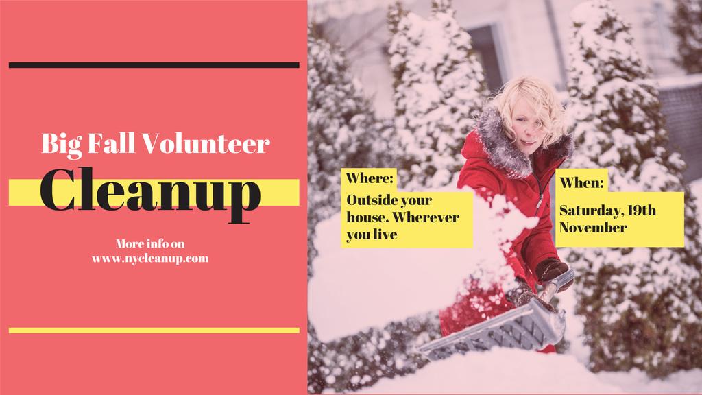 Winter Volunteer clean up — Создать дизайн