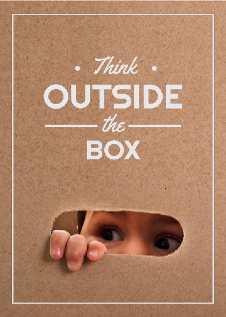 Children Creative Thinking Concept Flayer Design Template