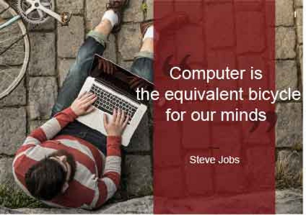 Motivational Quote with Young Man using laptop — ein Design erstellen