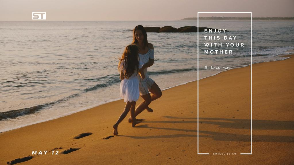 Mother and daughter by the sea on Mother's Day — Crear un diseño