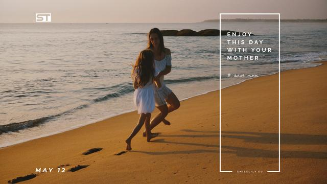Template di design Mother and daughter by the sea on Mother's Day Full HD video