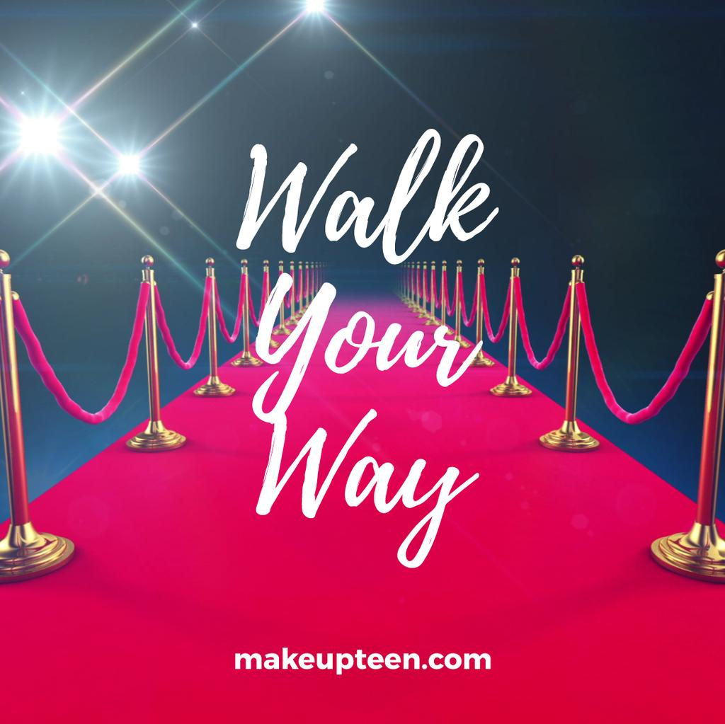 Walking on red carpet — Créer un visuel