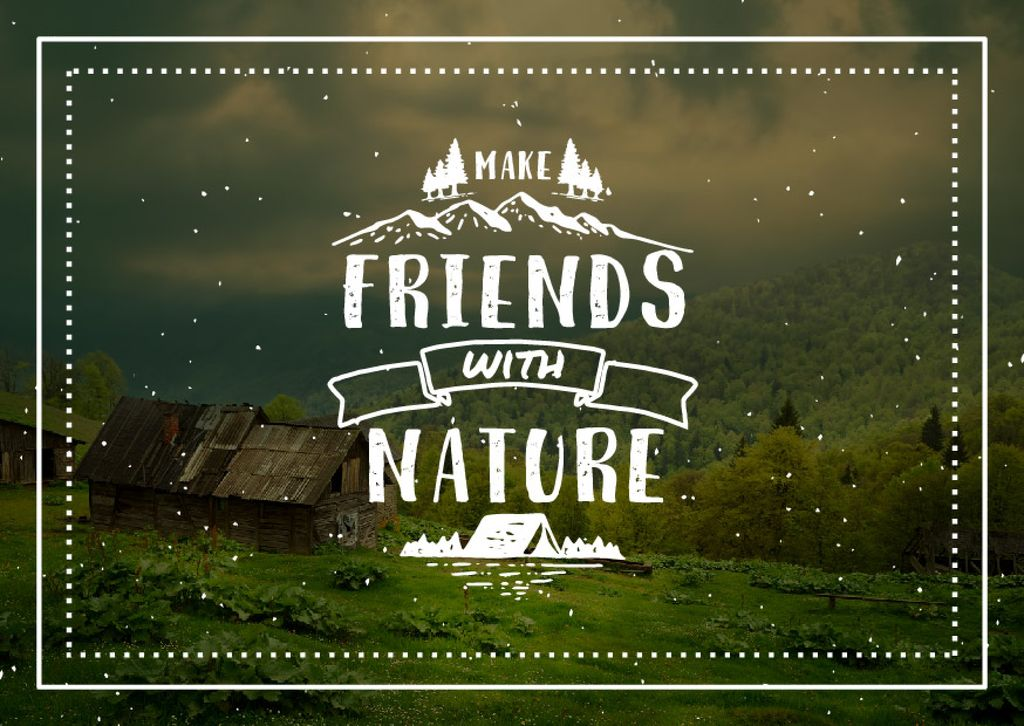 Make friends with nature poster — ein Design erstellen