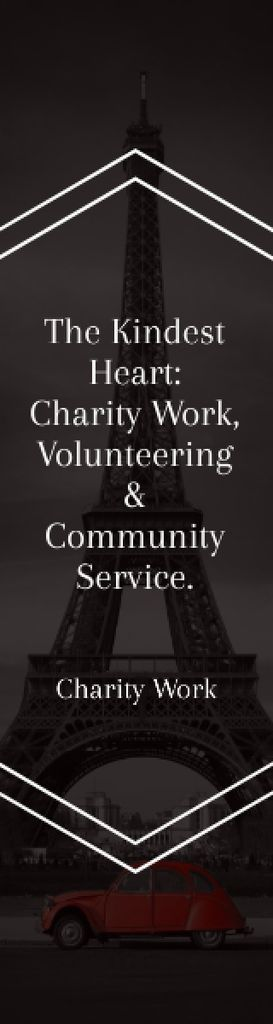 The Kindest Heart: Charity Work Skyscraper – шаблон для дизайна