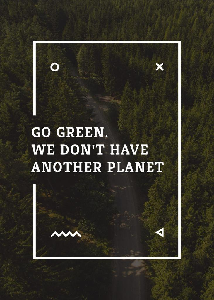 Ecology Quote with Forest Road View — ein Design erstellen