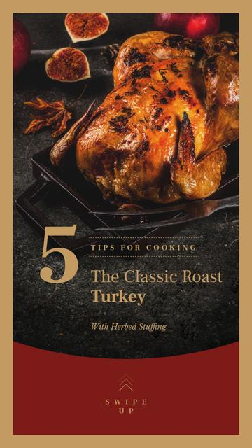 Template di design Roasted whole turkey on Thanksgiving Instagram Story