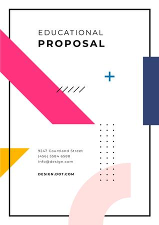 Education Platform program offer Proposal Modelo de Design
