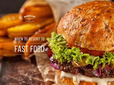 Fast Food Menu Tasty Burger Presentation Modelo de Design
