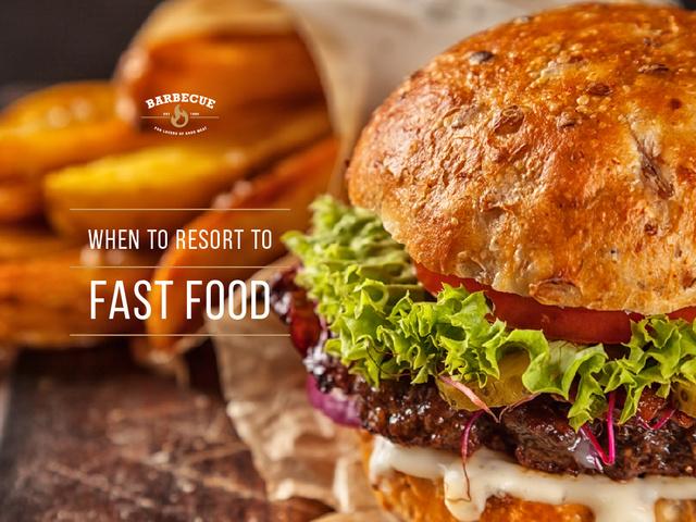 Fast Food Menu Tasty Burger Presentation Tasarım Şablonu