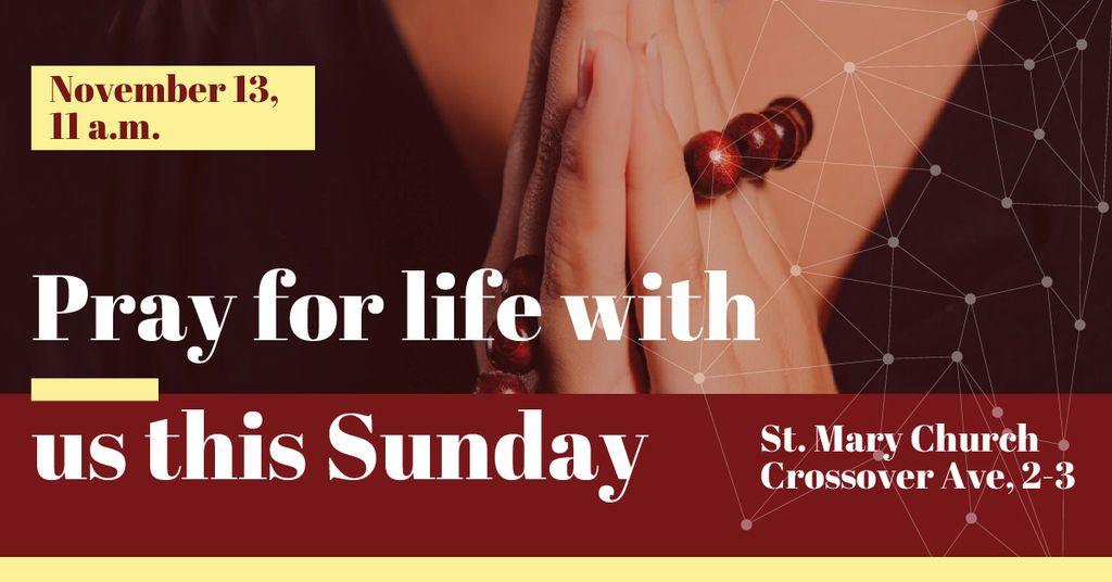 Invitation for praying in Church — Modelo de projeto