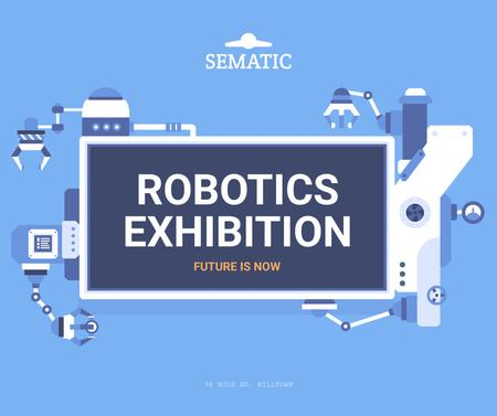 Robotics Exhibition Ad Automated Production Line Facebook – шаблон для дизайну