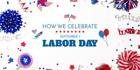 Template di design USA labor day celebration Image