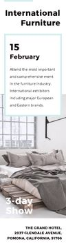Furniture Store Ad Bedroom in Grey Color | Wide Skyscraper Template