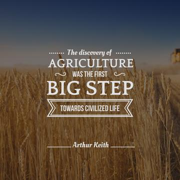 agricultural quote with wheat field