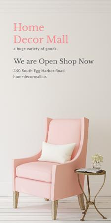 Furniture Store ad with Armchair in pink Graphic Modelo de Design