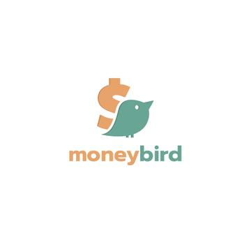 Banking Services Ad with Bird and Dollar Sign