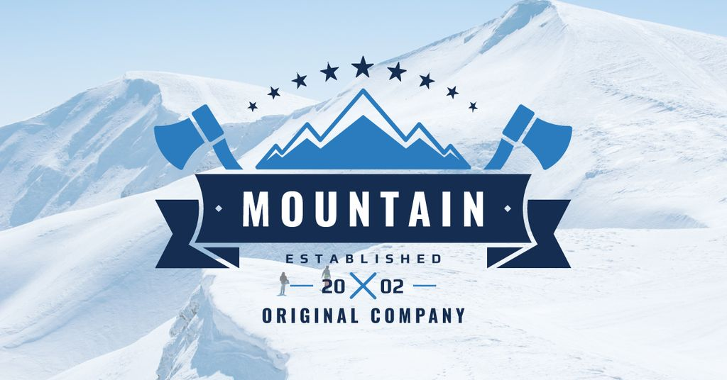 Company logo with Snowy Mountains View — Create a Design