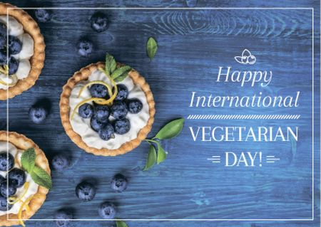 Plantilla de diseño de Vegetarian day greeting card Postcard