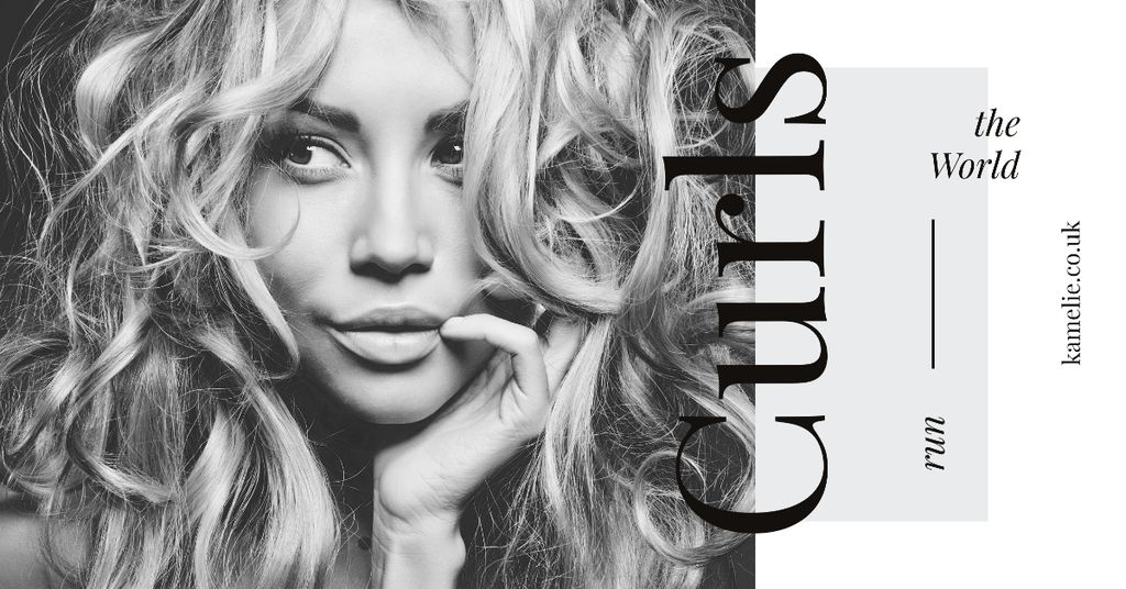 Curls Care Tips with Woman with Messy Hair — Crear un diseño