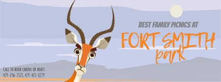 Wild Antelope in Nature Facebook Video cover Modelo de Design