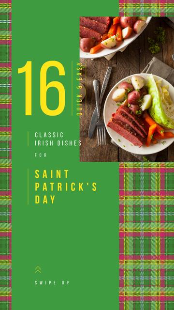 Ontwerpsjabloon van Instagram Story van Saint Patrick's Day dinner