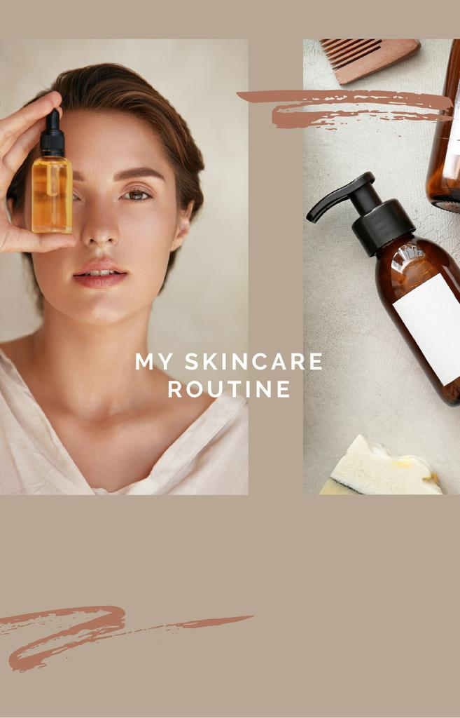 Woman with Natural Cosmetics —デザインを作成する