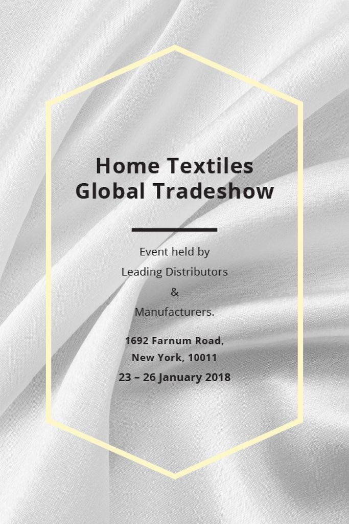 Home Textiles event announcement White Silk — Создать дизайн
