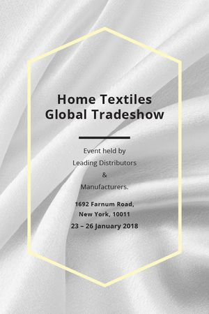 Ontwerpsjabloon van Tumblr van Home Textiles event announcement White Silk