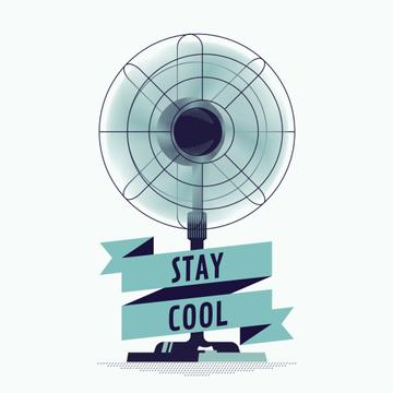 Stay Cool on Working Cooling Fan | Square Video Template