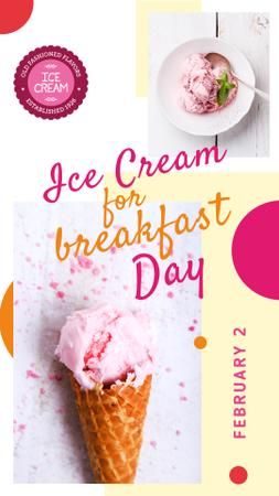 Plantilla de diseño de Sweet ice cream Day Instagram Story